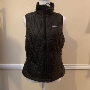 Patagonia Black Zippered Vest! SZ SMALL